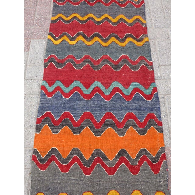 Vintage Turkish Oversized Kilim Runner - 2′2″ × 15′8″ - Image 6 of 11