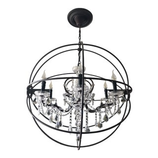 Foucault's Orb Crystal Chandelier For Sale