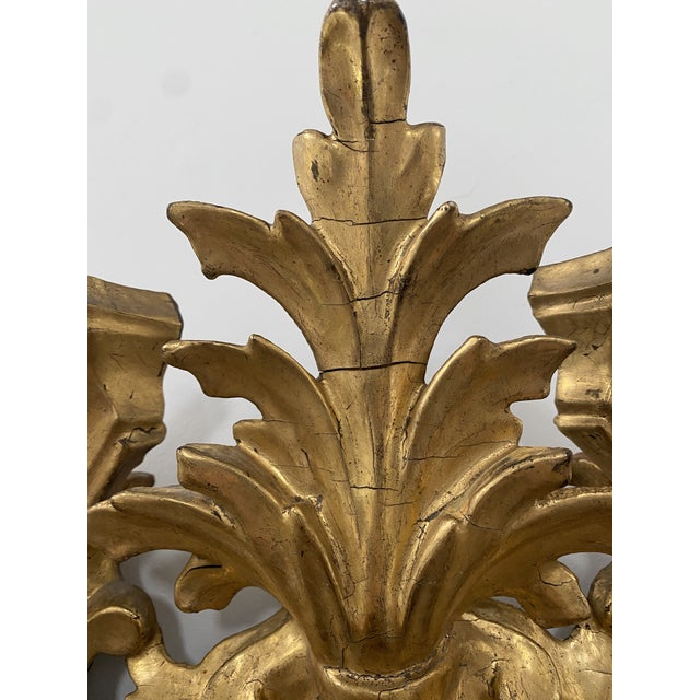 Antique 19th Century Italian Baroque Gilt Mirror For Sale - Image 4 of 13