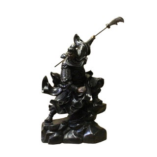 Chinese Handmade Metal Bronze General Quan Statue