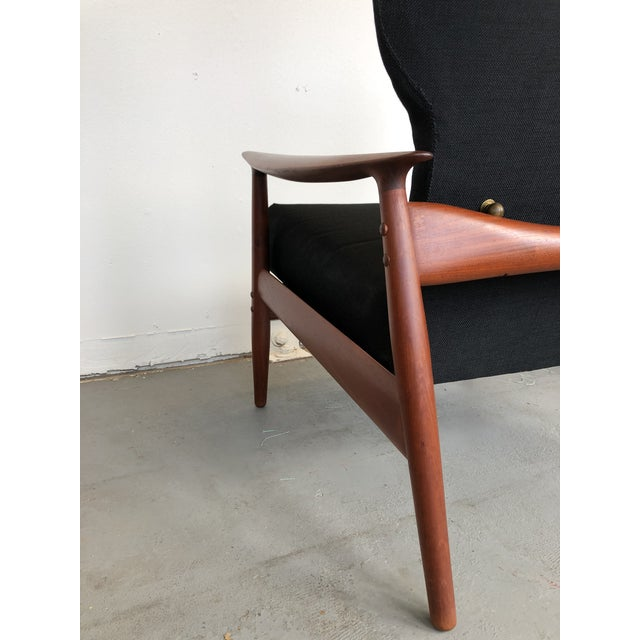 1960s 1960s Danish Modern Reclining Lounge Chair and Ottoman - 2 Pieces For Sale - Image 5 of 13