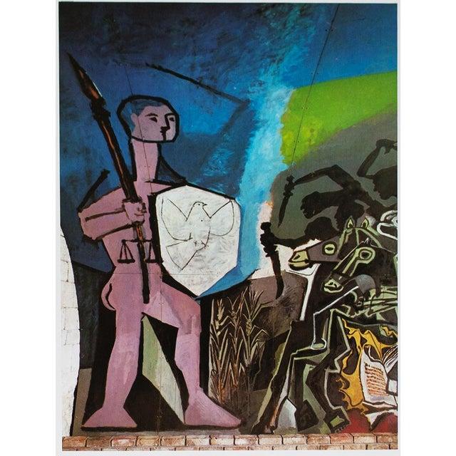 Lithograph 1971 Picasso War & Peace Parisian Photogravure For Sale - Image 7 of 7