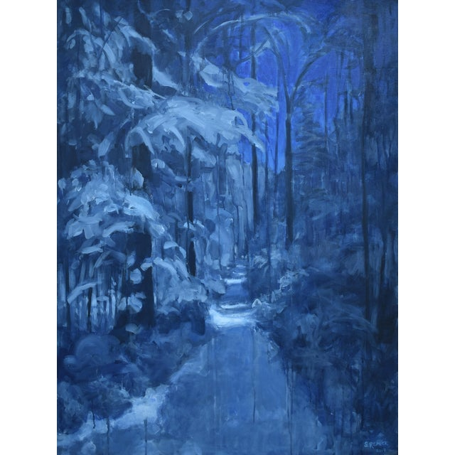 """Contemporary Expressionist Painting by Stephen Remick, """"Following Moonlight"""" For Sale"""