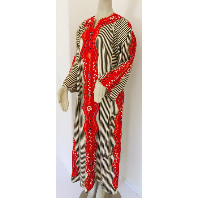 Vintage Middle Eastern Ethnic Caftan, Kaftan Maxi Dress For Sale - Image 10 of 13