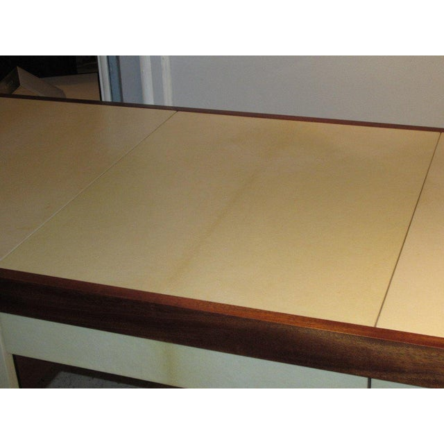 Custom parchment and Mahogany Writing Desk For Sale - Image 4 of 7