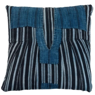 African Indigo Ashante Pillow For Sale