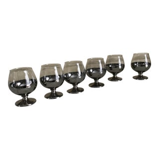 Dorothy Thorpe Style Cordial Glasses- Set of 6 For Sale