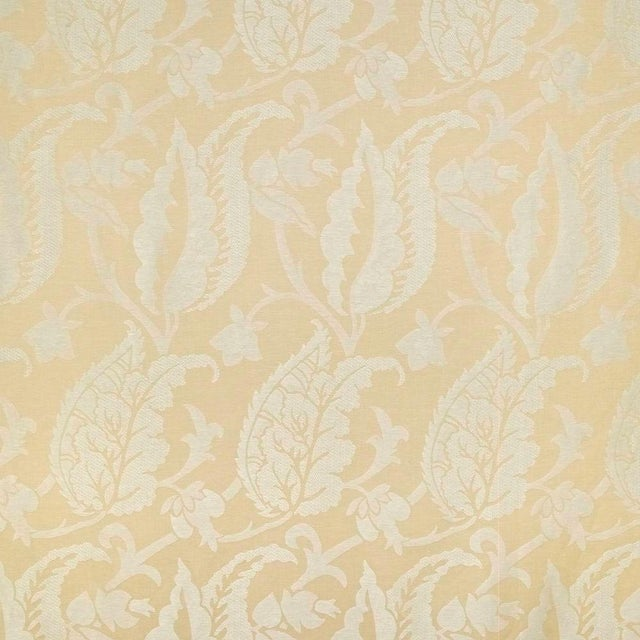 Contemporary Sample, Suzanne Tucker Home Jacqueline Linen Blend Jacquard in Straw For Sale - Image 3 of 4