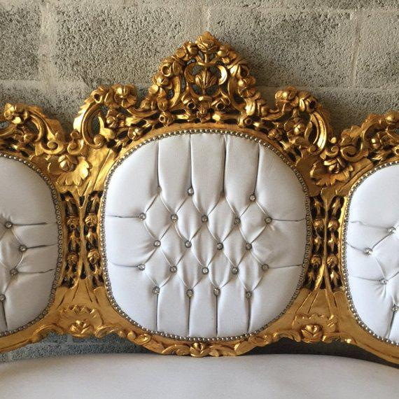 1940s Vintage Rococo Style Sofa For Sale - Image 4 of 6
