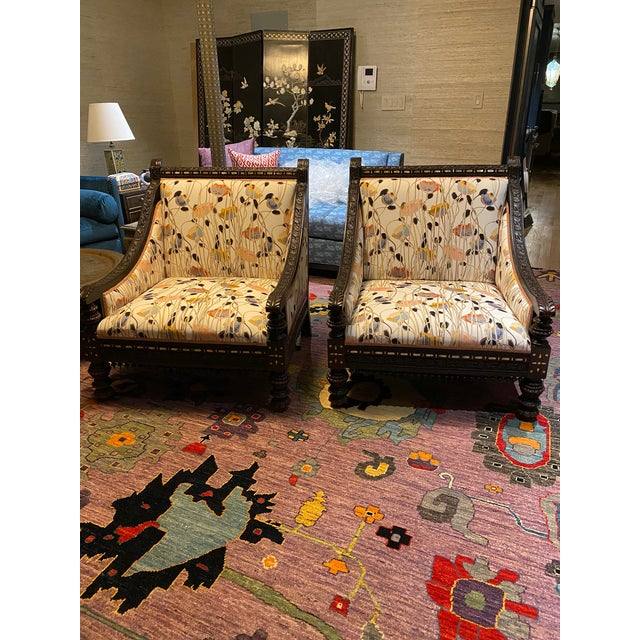 19th Century Mother of Pearl Inlay Chairs - a Pair For Sale - Image 12 of 12