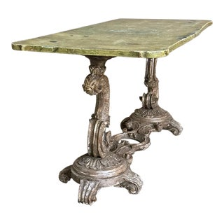 Antique Italian Baroque Painted Coffee Table For Sale