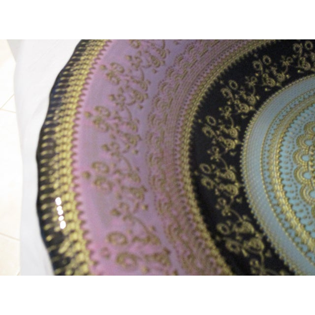Victorian Turkish Art Glass Bowl For Sale - Image 3 of 7