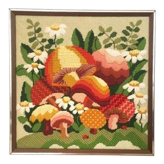 Vintage Mushroom Embroidery