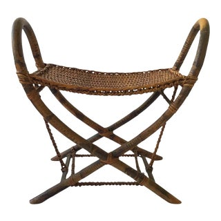 1930s Tribal Bamboo Bench For Sale