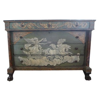 19th Century French Neoclassical Style Painted Commode For Sale