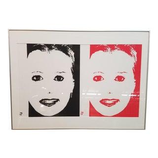 Warhol-Style Portrait of a Woman