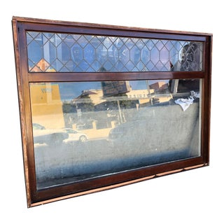 1920s Tudor Style Leaded Glass Bay Window For Sale