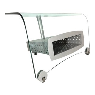 Post Modern Memphis Glass T V Stand, 1980s For Sale