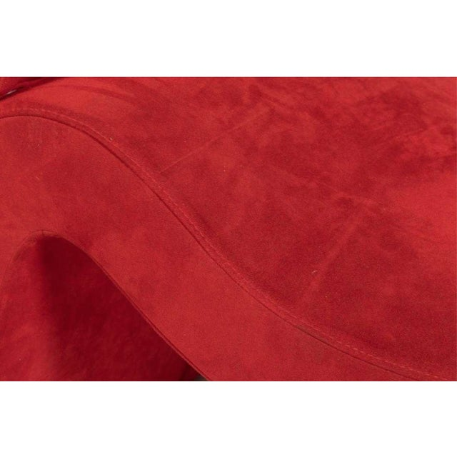 Italian Red Chaise For Sale - Image 4 of 6