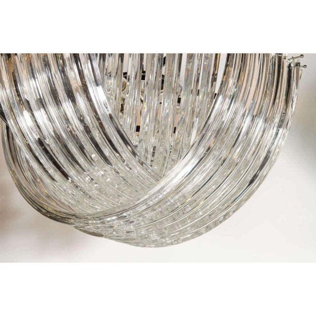 Modern Large Modernist Murano Glass Ribbon Chandelier For Sale - Image 3 of 7