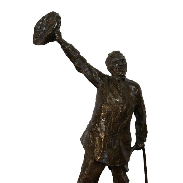 19th Century French Sculpture the Wanderer by Aime Jules Dalou For Sale - Image 4 of 6