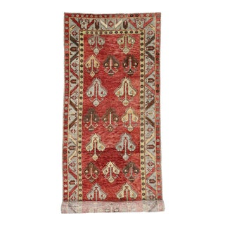 Vintage Turkish Oushak 20 Foot Long Runner with Modern Tribal Design For Sale