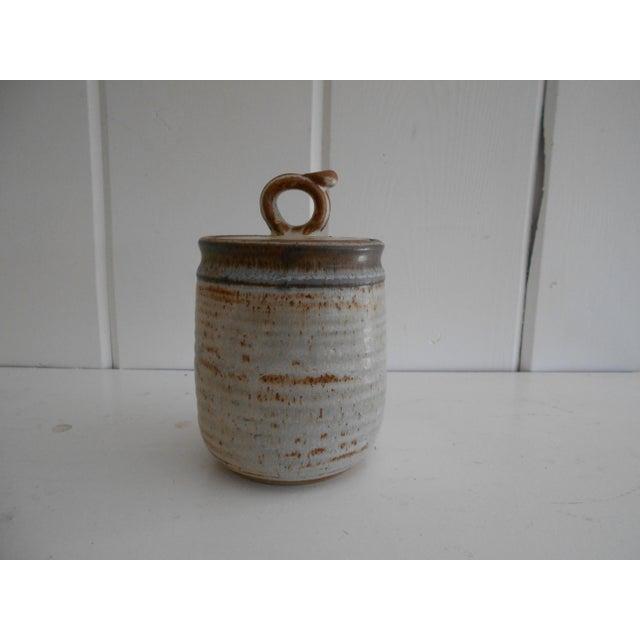 Rustic Pottery Honey Pot - Image 3 of 8