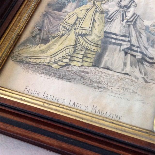Antique Parisian Fashion Plate For Sale - Image 4 of 6