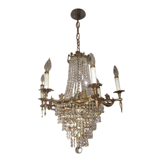 Vintage French Empire Style Chandelier - Image 1 of 3