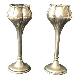 Art Nouveau Bud Vases - a Pair For Sale