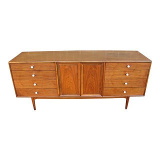 1960s Vintage Mid-Century Modern Kipp Stewart for Drexel Declaration Walnut Credenza For Sale