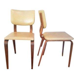 1960s Mid Century Modern Thonet Bentwood Dining Chairs - a Pair