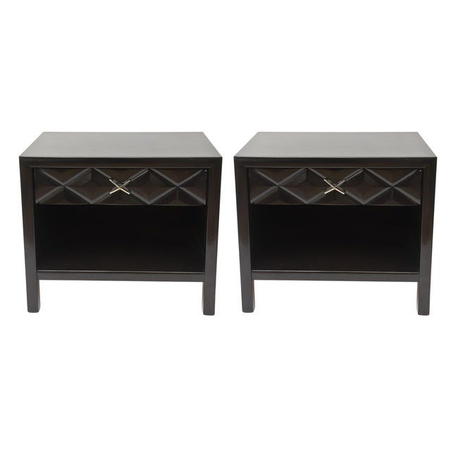 These classic and newly restored pair of John Widdicomb nightstands/end tables/ side tables are very mid century. The...