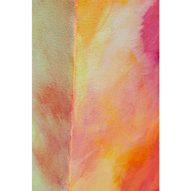 Original Art Painting - EXPRESSIVES SERIES I Dream in Color is a bold, vivid pop of reds, pinks, plum, yellow on bright...