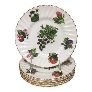 Mid 20th Century Crownford Fruit Salad Dessert Plates - Set of 6 For Sale