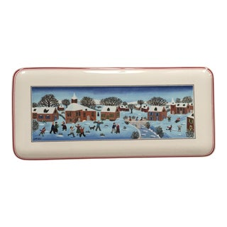 "Villeroy & Boch ""Naïf Christmas"" Fine Porcelain Tray For Sale"