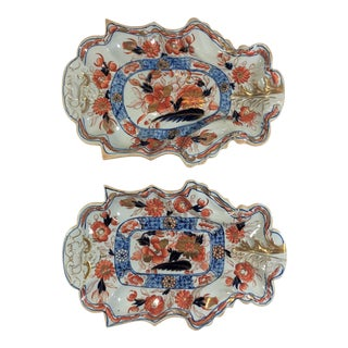 Pair Antique English Mason's Ironstone Platters, Circa 1860. For Sale