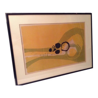 Mid-Century Modern Edie (Edythe) Shedden (Listed Artist) Signed Framed Artists Proof on Paper For Sale