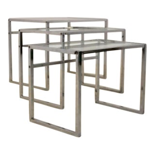 Swedish Chrome Nesting Tables by Ikea '60's