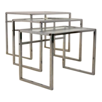 Fine swedish chrome nesting tables by ikea 60s decaso swedish chrome nesting tables by ikea 60s image 1 of 10 watchthetrailerfo