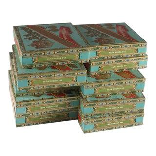 Vintage La Escepción Cigar Boxes - 10 Pieces For Sale