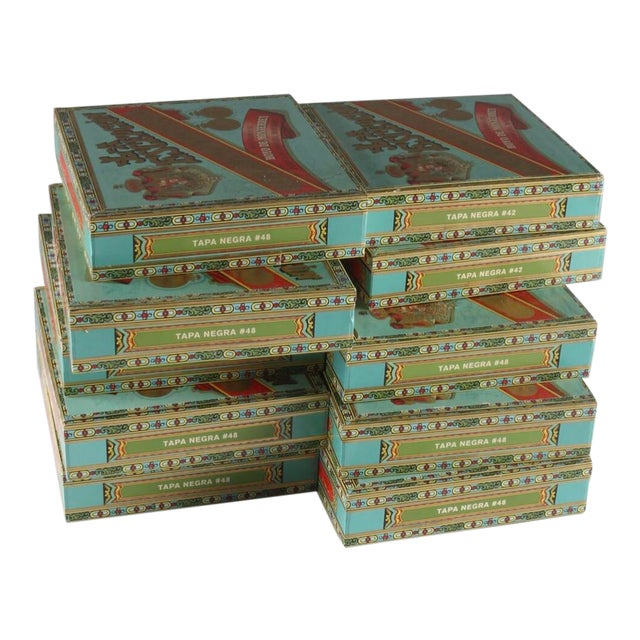 Vintage La Escepción Cigar Boxes - 10 Pieces For Sale