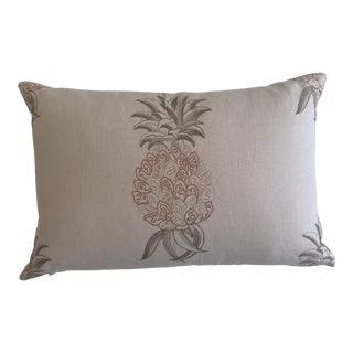 Travers Ananas Embroidery Pillow For Sale