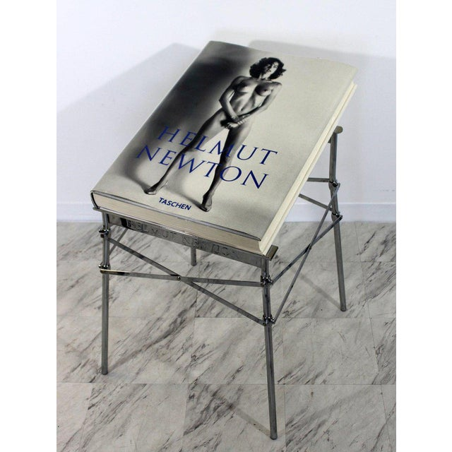 Late 20th Century Helmut Newton Sumo Big Nude Art Book on Starck Chrome Stand Signed 3114/10000 For Sale - Image 5 of 13