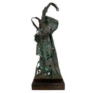 Abstract Expressionist Bronze Sculpture By Howard Quam For Sale