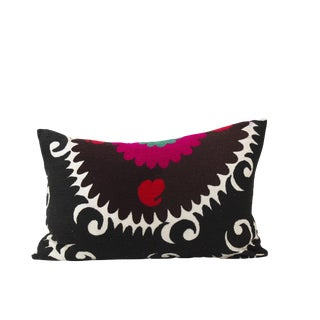 Vintage Suzani Embroidered Pillow For Sale