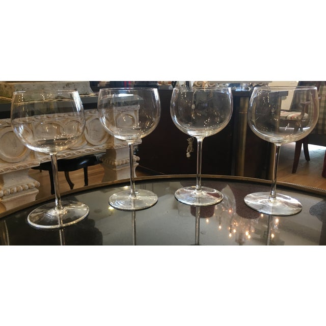 Val St Lambert Wine Goblets - Set of 4 - Image 10 of 11