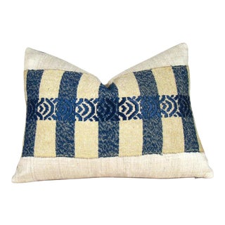 Handwoven Japanese Sakiori Obi Lumbar Pillow Cover For Sale