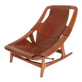Image of Arne F. Tidemand Ruud Danish Modern Holmenkollen Lounge Chair For Sale