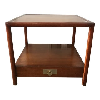 1950s Mid Century Modern Michael Taylor's for Baker Furniture Mahogany Side Table For Sale